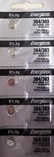 10 Pcs Energizer 364 SR621SW Watch Button Battery