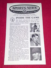 SPORTS NEWS - INSIDE THE GAME - Aug 1959 Vol VII # 6