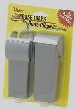New! 2pk VICTOR Live Catch Mouse Trap No Touch Reusable Rodent Pest Control M007