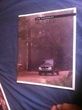 1998 Chevy Chevrolet S10 Blazer Color Original Brochure Prospekt