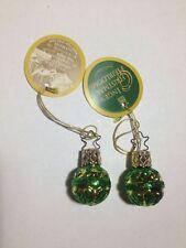 *NEW* Inge-Glas German Christmas Tree Ornament Mini Green Balls lot 2 - 1-673-01