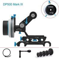 FOTGA DP500 Mark III QR A/B Hard Stop Follow Focus +Arm+Crank For 15mm 19mm Rod