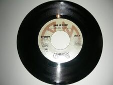 Carpenters - Solitaire / Love Me For What I Am   45    A&M   NM  1975