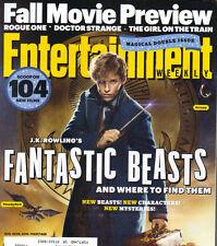 EDDIE REDMAYNE JK ROWLING Fantastic Beasts Entertainment Weekly 8/19/16 BRITNEY