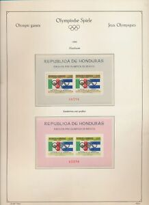 XC70042 Honduras 1968 Mexico sports olympics sheets MNH