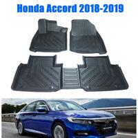 For Honda Accord 2018-2019 Car Floor Mat Front& Rear Liner Carpet Waterproof Mat