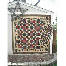 FLOATING STARS QUILT AND TABLE RUNNER PATTERN, From Snuggles Quilts Patterns NEW