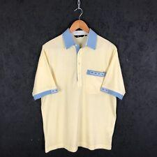 Vintage Gabicci Polo Shirt Size M Yellow Blue