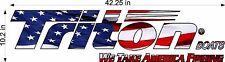"""Triton Boats America / 42"""" Vehicle Watercraft Decal Usa Fishing Gear Sticker"""