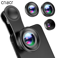 Phone Camera Lens 0.4X Wide Angle Lens+180°Fisheye Lens+10X Macro Len for iPhone