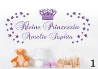 Kleine Prinzessin Wunschname Kinderzimmer Sterne Name Wandaufkleber WandTattoo