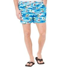 French Connection Mens Palm Swim Shorts, Blue, XXL, BNWT, RRP £34.99