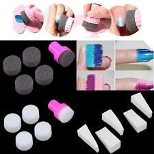 15pcs Nail Art Polish Stamping Sponge Design Transfer Stickers DIY Manicure TL