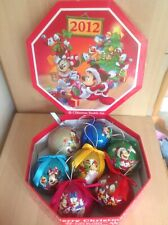 More details for boxed set of 7 x disney store 2012 mickey mouse & friends christmas tree baubles