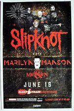 Slipknot / Marilyn Manson / Of Mice & Men 2016 San Diego Concert Tour Poster