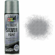 1 x Metallic Silver Spray Paint Interior & Exterior Spray Aerosol Can 250ml