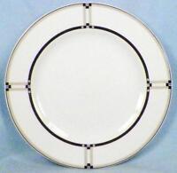 Studio Nova Exhibition Salad Plate Y0290 Black Blue Taupe Ribs on White