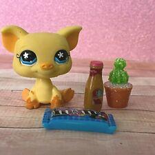 100% AUTHENTIC Littlest Pet Shop LPS #475 Yellow Pig w Accessories