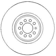 AUDI TT 8N9 3.2 2x Brake Discs (Pair) Vented Front 03 to 06 334mm Set NAP New