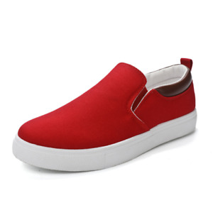Men's Lightweight Canvas shoes Stretch Loafers Breathable Casual Slip-on Sneaker