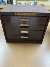 Vintage Watchmaker 4 Drawer Cabinet Flexo Crystal