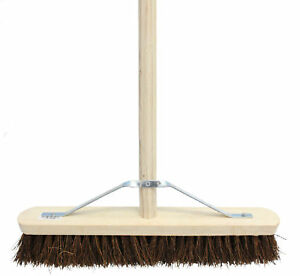 Choose Broom type C/W Handle & Brush Sweeping Industrial Yard Outdoor Strong