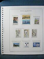 Fogli Marini San Marino 1980 - usati con francobolli nuovi