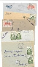 New listing Africa (Dahomey)- 5 covers (1951) from different cities to Paris (nice)