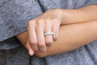 2Ct Princess-Cut D/VVS1 Diamond Eternity Wedding Band Ring 14K White Gold Finish