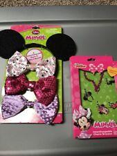 Disney Minnie Mouse Dress Up Ears & Bracelet D1