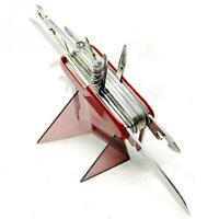 Red Pocket Army Knife Folding Multi-Use Tool Camping Survival Swiss