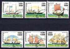 Barcos Camboya (13) serie completo de 6 sellos matasellados