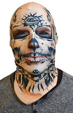 Adult size Faux Real Tattoo Face Mask - Costume Accessory fnt