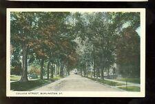 Burlington, Vermont, College Street (Bmisc VT486) pre-1920