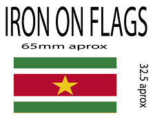 iron on flag x 2 of suriname patch (other countries available)