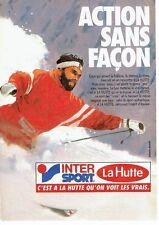 Publicité Advertising 037  1985  La Hutte Intersport  vetements de ski