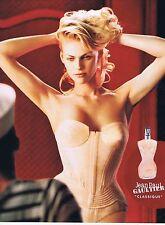 PUBLICITE ADVERTISING 075 2002  JEAN PAUL GAULTIER  parfum femme CLASSIQUE