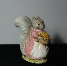 Vintage Royal Albert Beatrix Potter Goody Tiptoes Squirrel & Basket Figurine