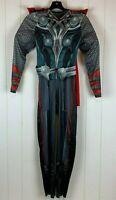 Halloween Costume Marvel Avengers Thor Youth Boys Large 10/12 Jumpsuit Cape L