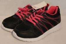 NEW Girls Tennis Shoes Size 13 Black Pink Lace Up Sneakers Athletic School Gym