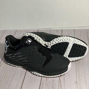 Women's Brine Empress Lacrosse Turf Shoe Black White Size 10 Excellent!!