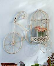 Shabby Vintage Chic Wall Decor Bicycle Plaque Metal Wall Art Tricycle Trike Bike