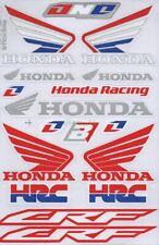 1x Racing Honda Wing Stickers Sheet Emblem Motorcycle Racing ATV Bike Race H05