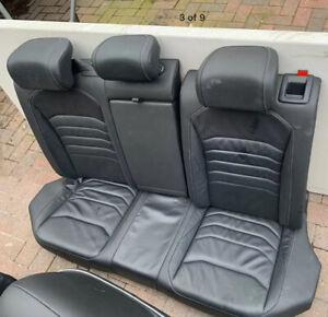 Original VW Arteon Black R Line Leather Rear Seat Bench