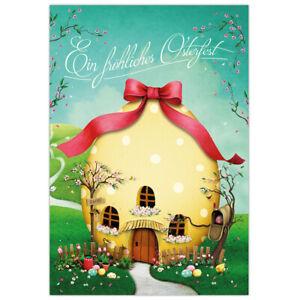 "Osterkarte 10-er Set  ""Ostereihaus"" - Postkarte 17,5 x 12 cm, Nostalgie"