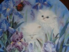 W S George Collectors Plate GARDEN DISCOVERY From PETAL PETS Persian Kitten