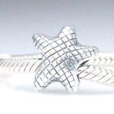 Starfish Charm Bead 925 Sterling Silver