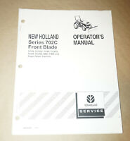 2000 New Holland Series 702C Front Blade Operator's Manual P/N 86615960