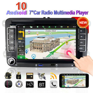 "Android 10.0 7 ""Car Radio GPS Navi For 2DIN VW Passat Golf 5 6 Jetta Polo Touran"