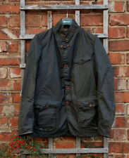 BNWT Autentico BARBOUR Beacon COMANDANTE Oliva Cera SPORT GIACCA (MEDIUM; EU48-50)